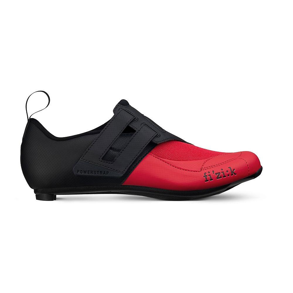 Fizik Transiro R4 Powerstrap Shoes - BLACK-RED - EU 39, BLACK-RED