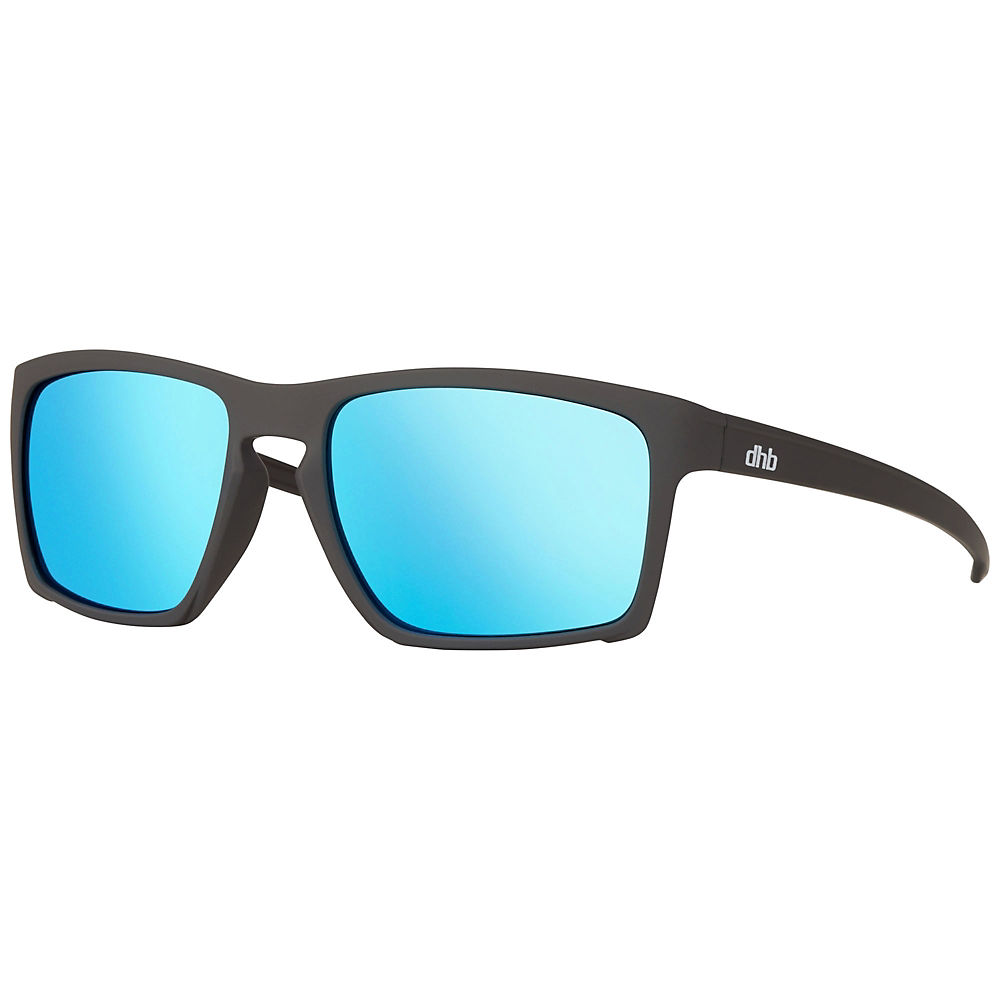 Dhb Clark Revo Lens Sunglasses - Rubber Grey Blue Revo  Rubber Grey Blue Revo