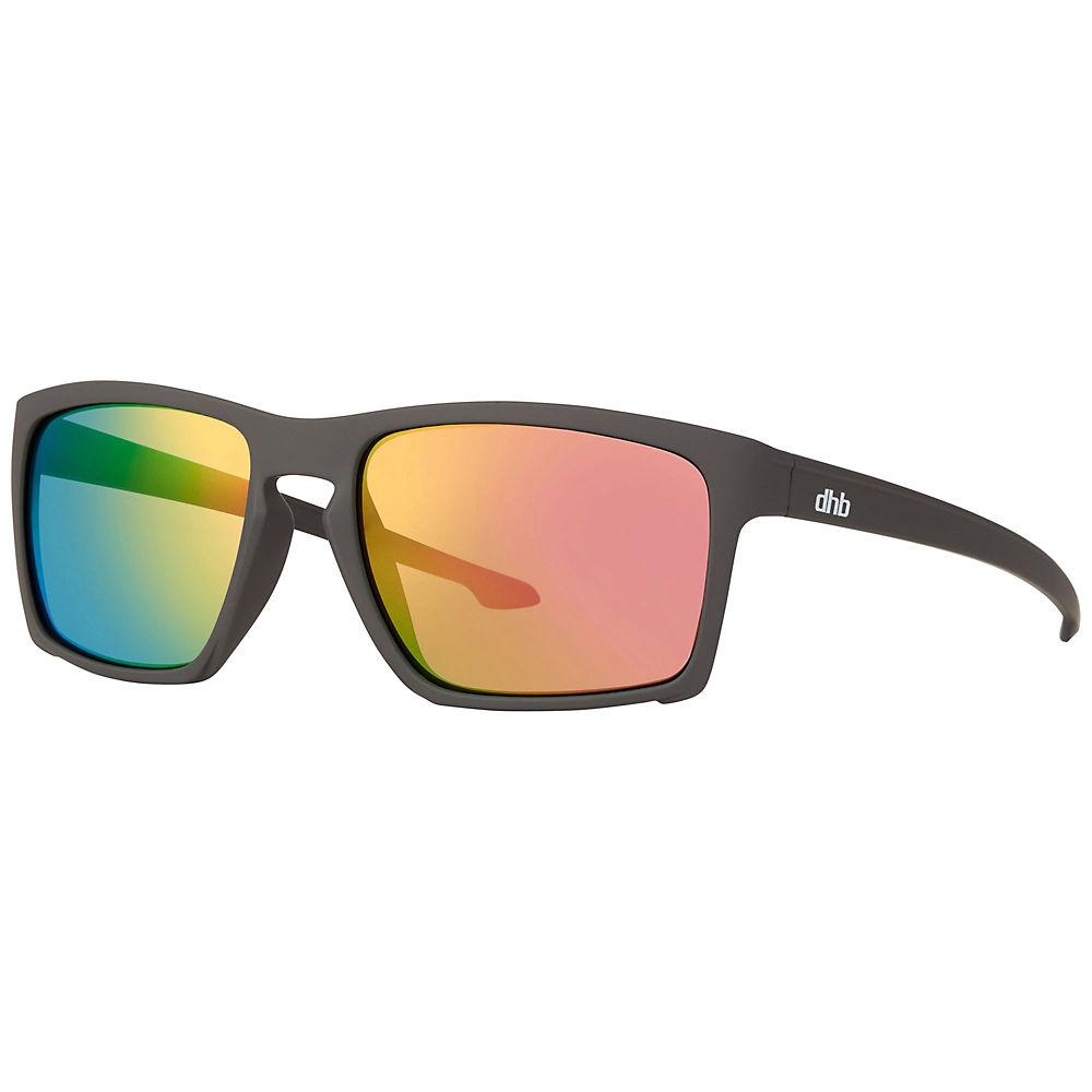 Dhb Clark Revo Lens Sunglasses - Rubber Grey Pink Revo  Rubber Grey Pink Revo