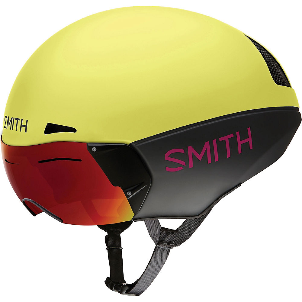 Image of Smith Podium TT MIPS Helmet 2019 - Citron-Peony, Citron-Peony