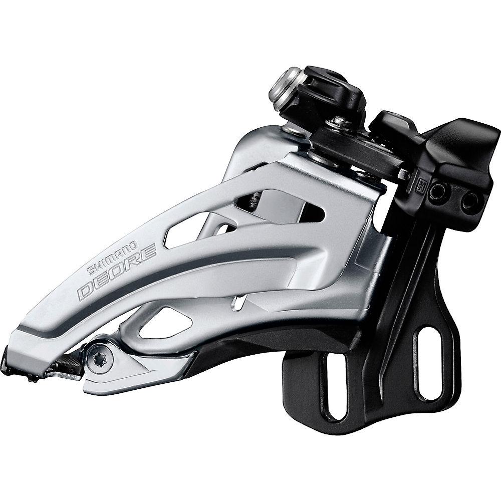 Shimano M617 2x10 MTB Front Derailleur - Silver - Dual Pull, Silver