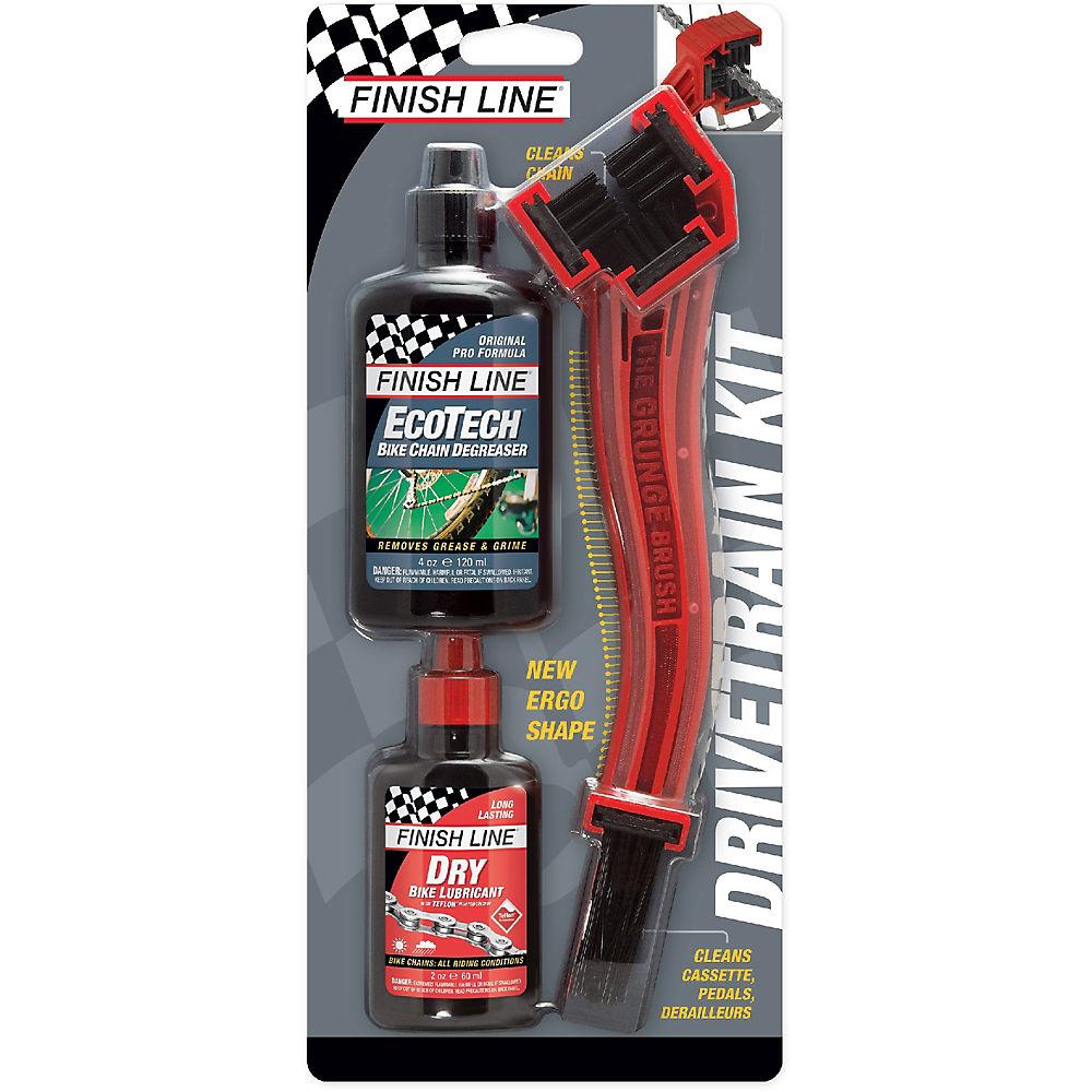 Finish Line Starter Kit 1-2-3 - Grunge Brush - Red  Red