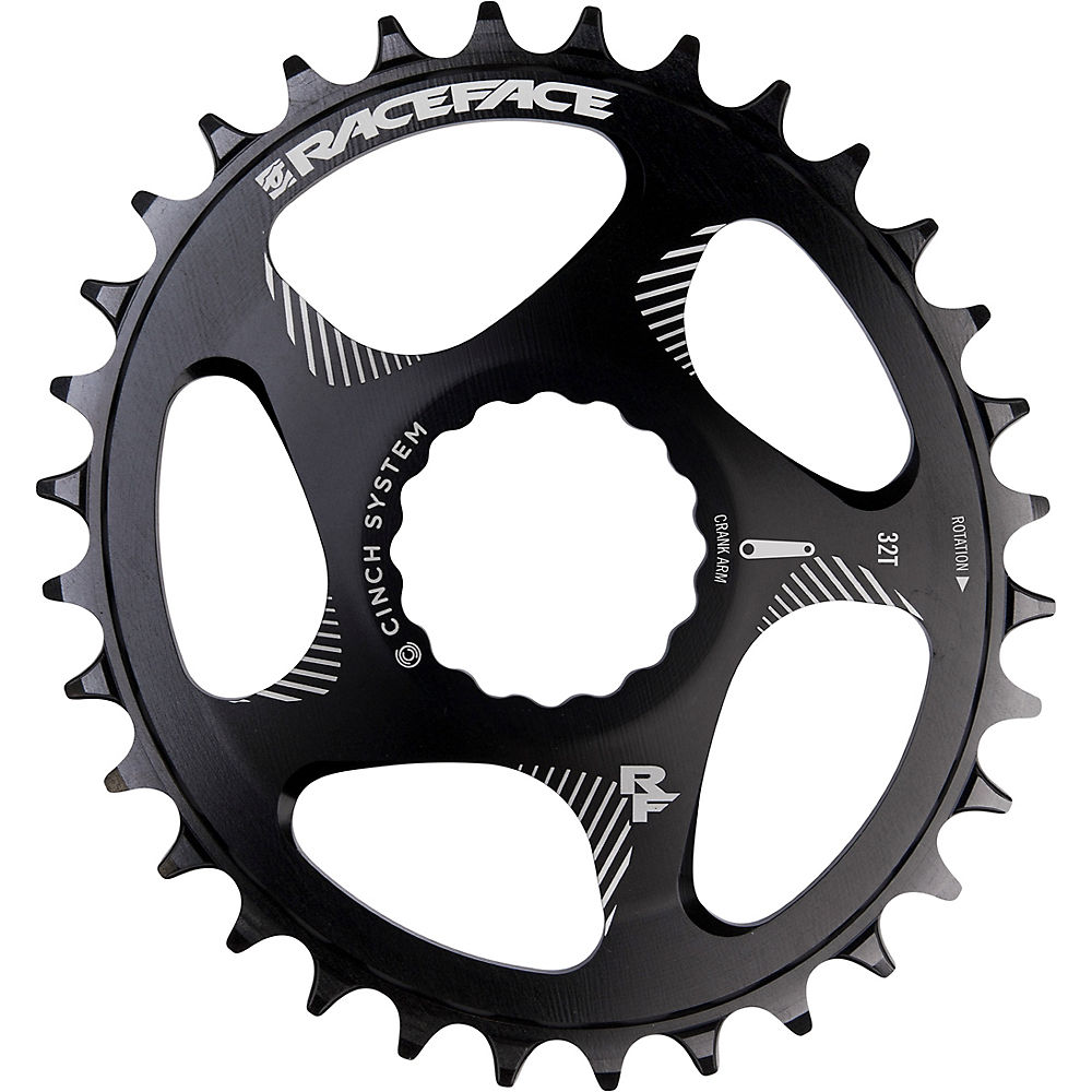 Race Face Direct Mount Oval Chainring - Black - 32t  Black