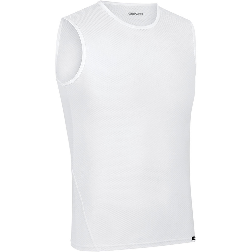 GripGrab Ultralight Sleeveless Mesh Baselayer - Blanco - XXL, Blanco