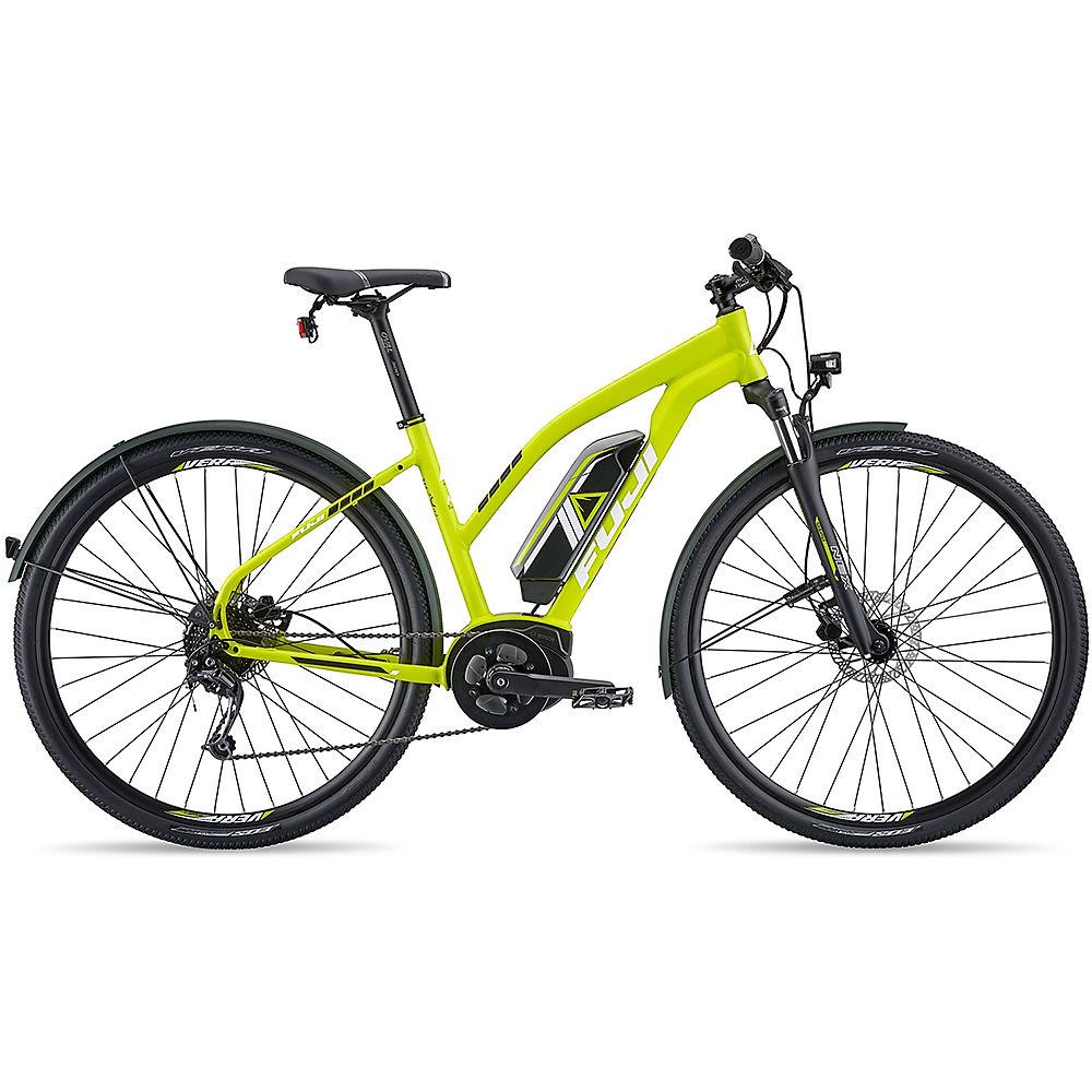 """Fuji E-Traverse 1.3+ ST Intl Women's E-Bike 2019 - Satin Citrus - 46cm (18""""), Satin Citrus"""