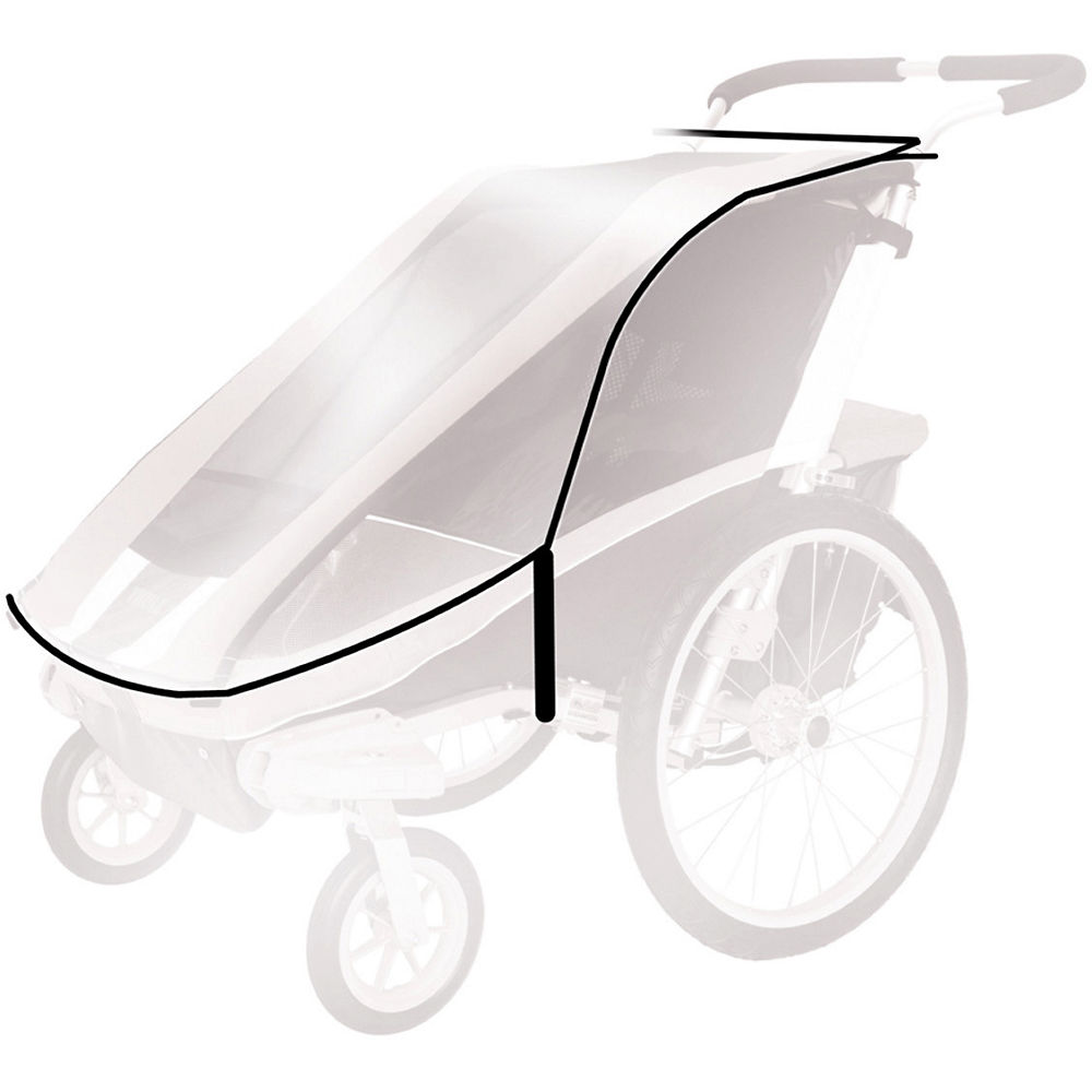 Thule Chariot Weather Cover - Transparente - Double, Transparente