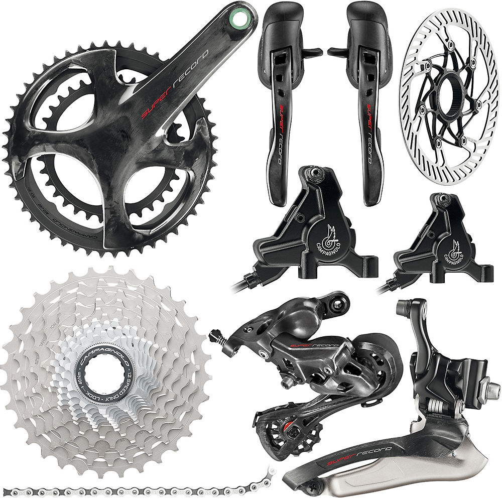 Campagnolo Super Record 12sp Road Groupset - Disc 2019 - Carbono - 11-32t, Carbono