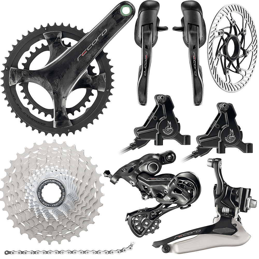 Campagnolo Record 12 Speed Road Groupset - Disc 2019 - Carbono - 11-32t, Carbono
