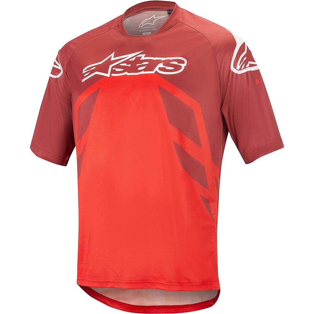 Alpinestars Racer V2 Short Sleeve Jersey - BURGUNDY BRIGHT RED WHITE - XXL, BURGUNDY BRIGHT RED WHITE