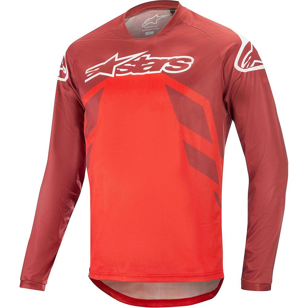 Alpinestars Racer V2 Long Sleeve Jersey - BURGUNDY BRIGHT RED WHITE - XXL, BURGUNDY BRIGHT RED WHITE