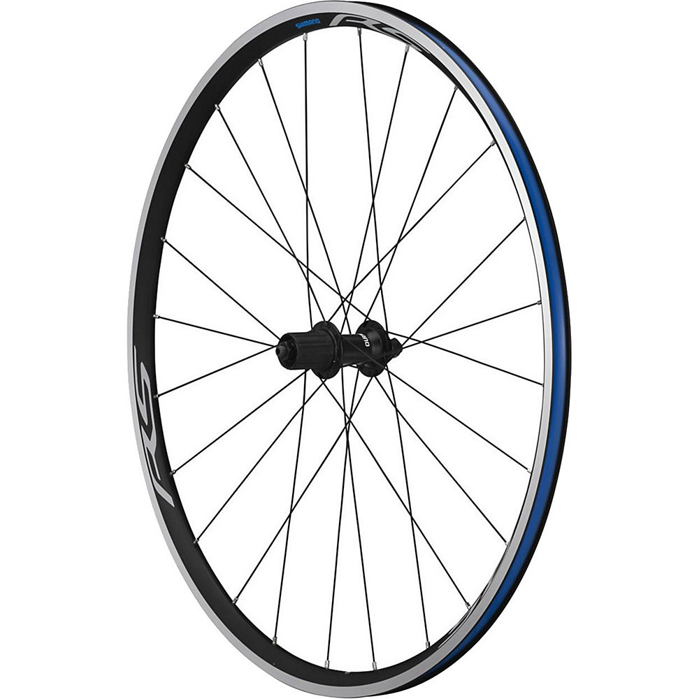 Shimano RS100 Clincher Rear Wheel - Black - 700c, Black
