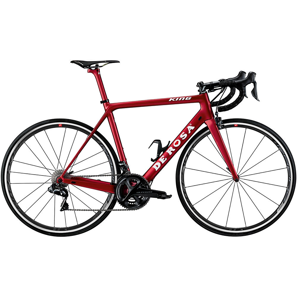 "Image of De Rosa King R8000 (Ultegra) Road Bike 2019 - Rosso Red - 51.5cm (20""), Rosso Red"