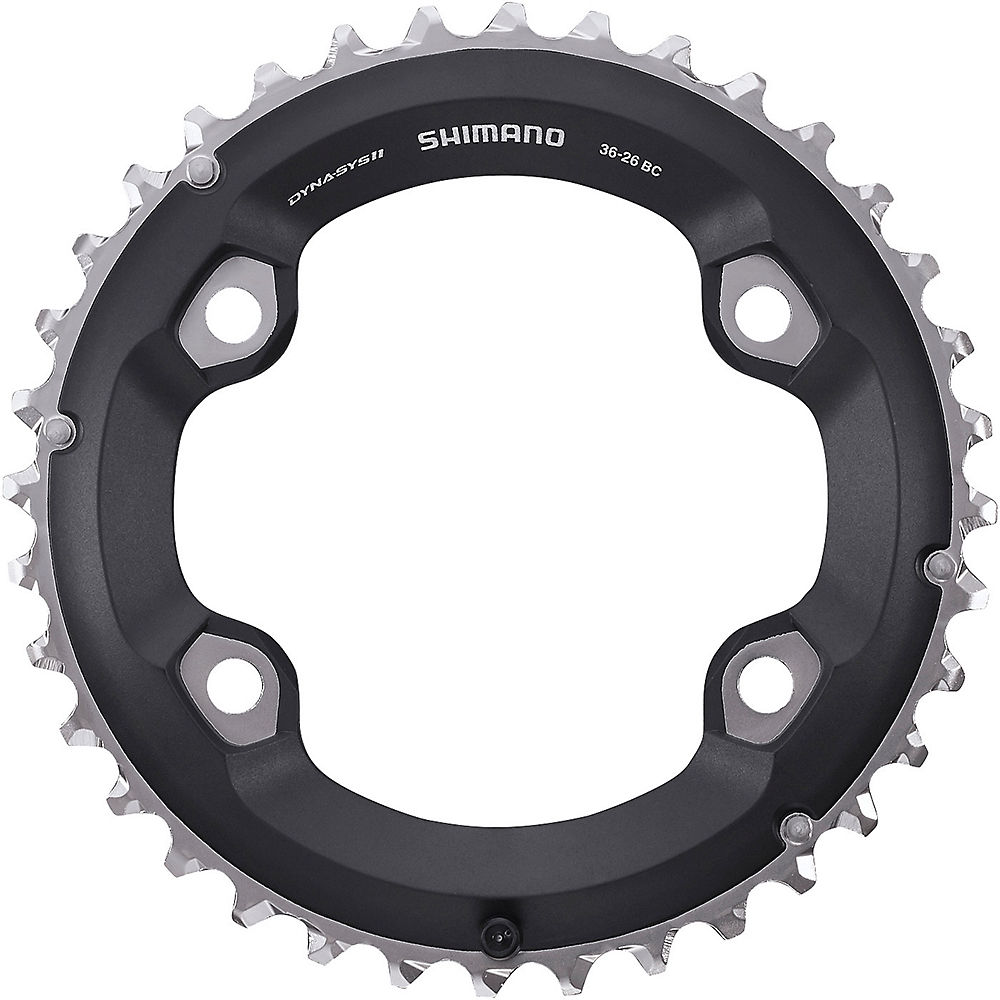 Shimano SLX M7000 Double Chainring - Black - 4-Bolt, Black