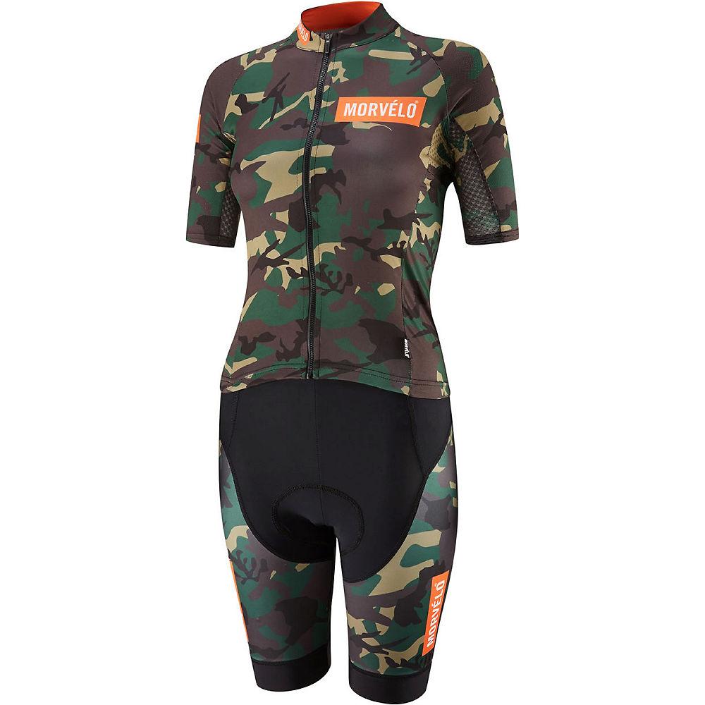 Morvelo Women's Mono Camo Short Sleeve Speedsuit, Camo