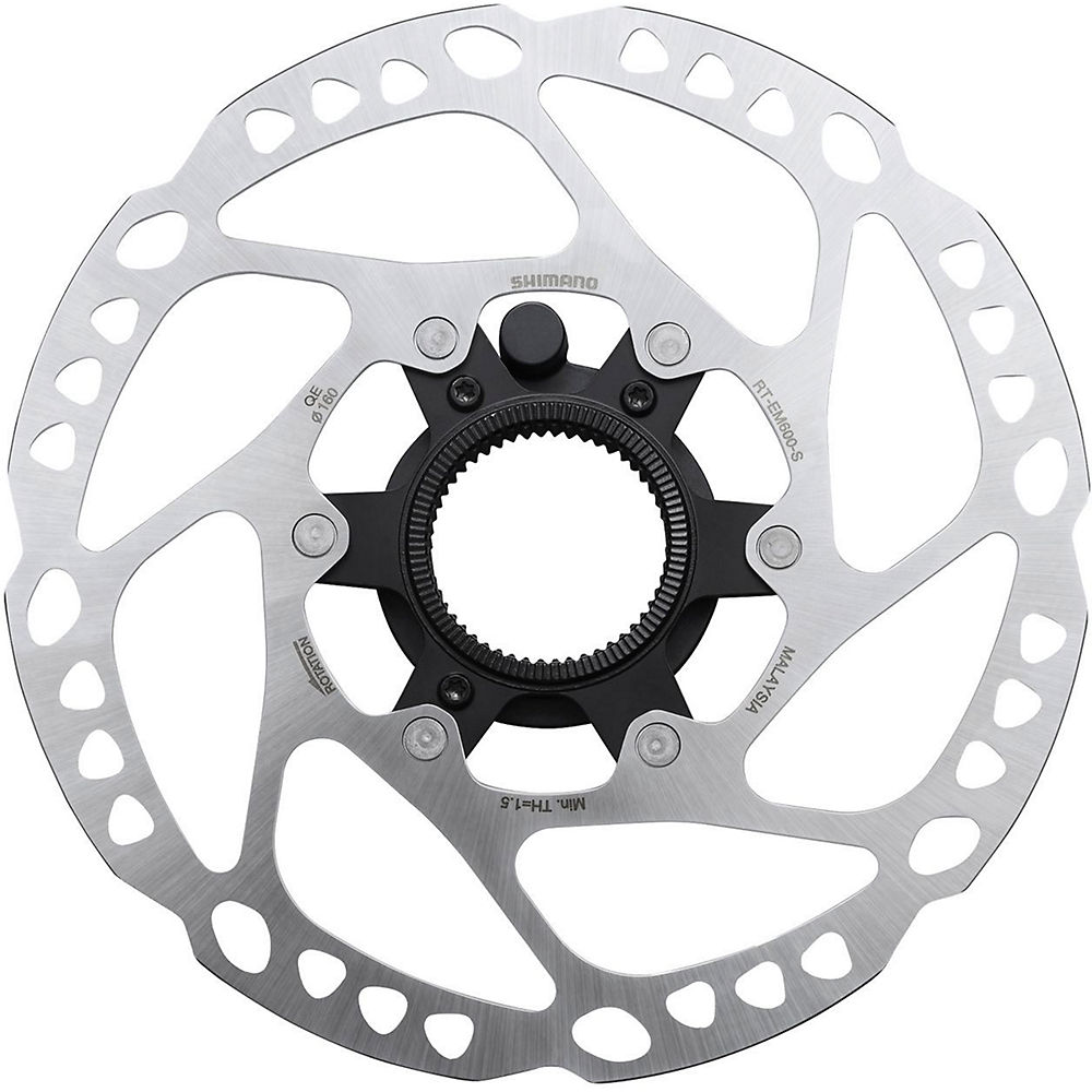 Shimano Steps EM600 CL Disc Rotor - Silver - 160mm, Silver