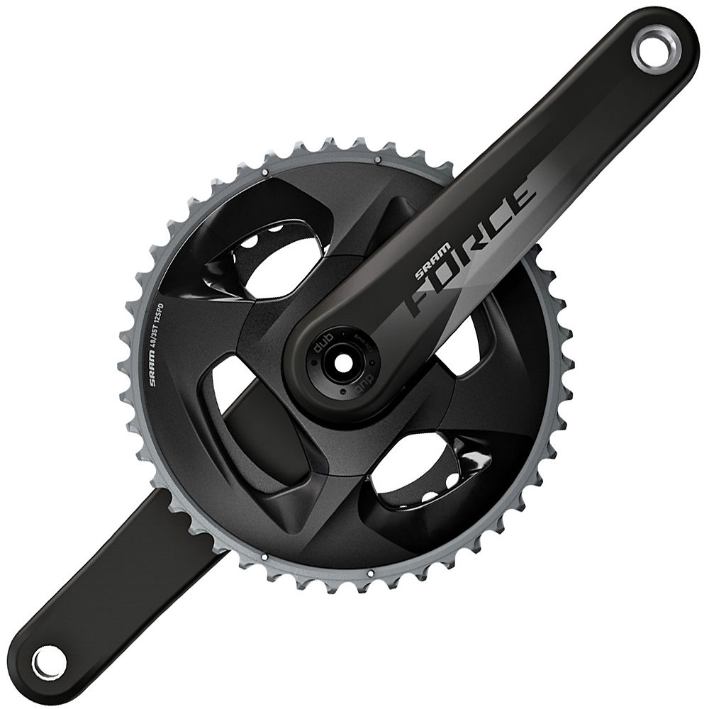 Sram Force Dub 12 Speed Road Double Chainset - Black - 48.35t  Black
