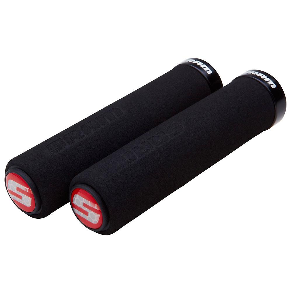 Sram Locking Foam Grips - Black-red - 129mm  Black-red