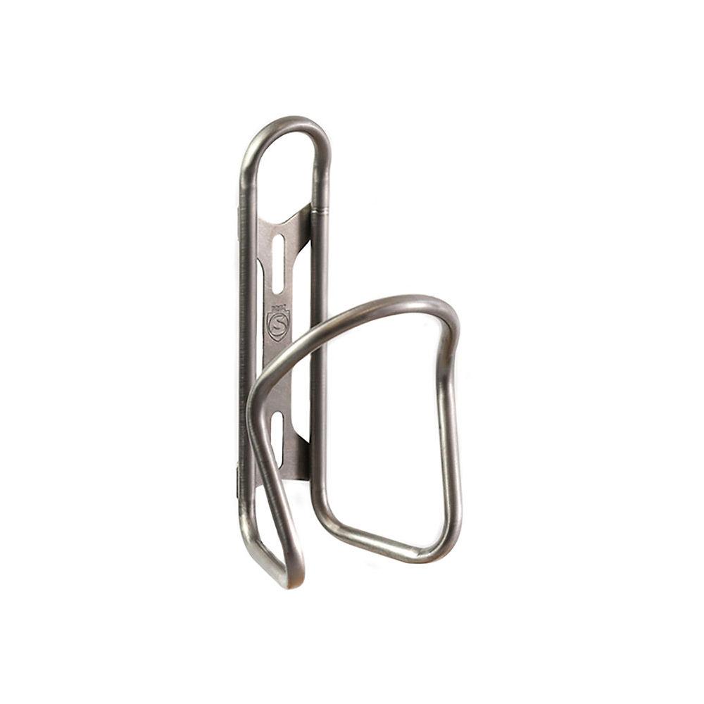 Silca Sicuro Titanium Bottle Cage - Plata, Plata