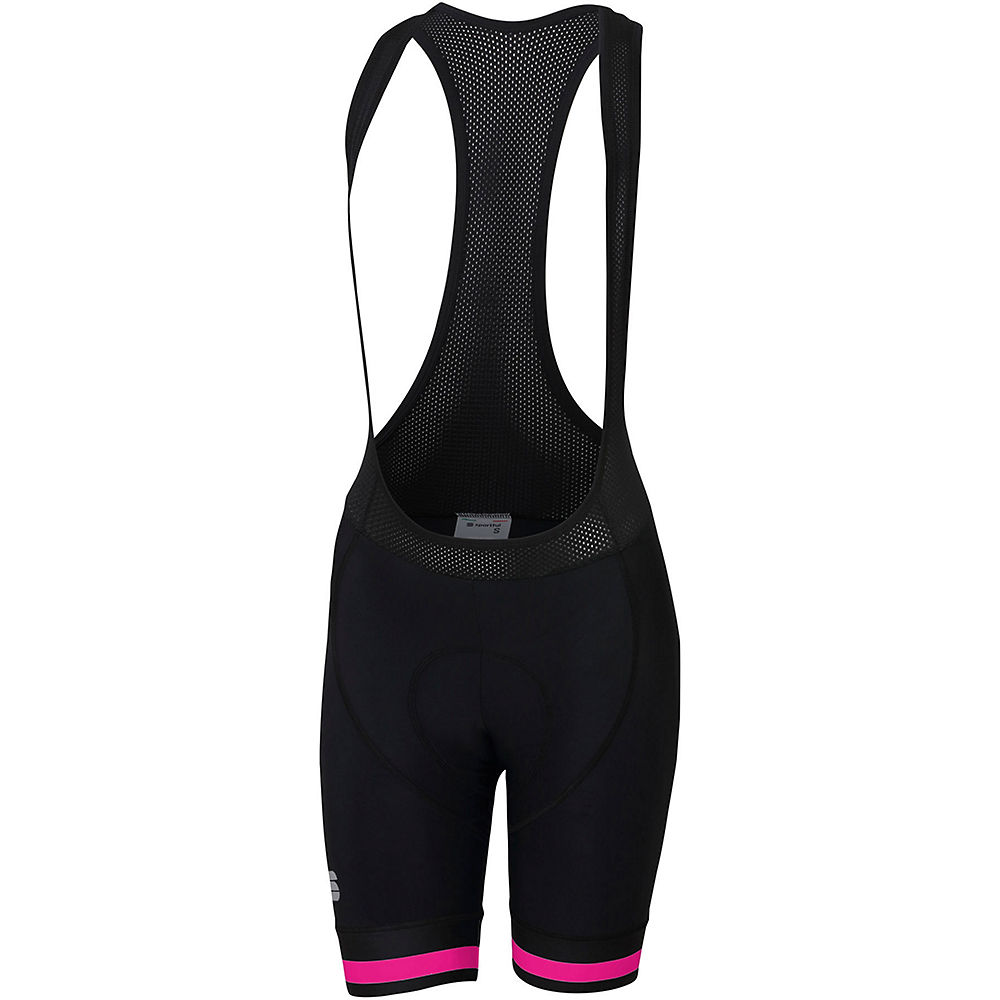 Sportful Women's BF Classic Bib Short - Black-Bubble Gum, Black-Bubble Gum