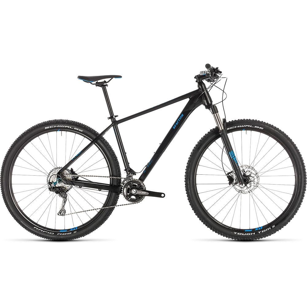 """Bicicleta de montaña rígida Cube Reaction Pro 29 2019 - Negro - Azul - 43cm (17""""), Negro - Azul"""