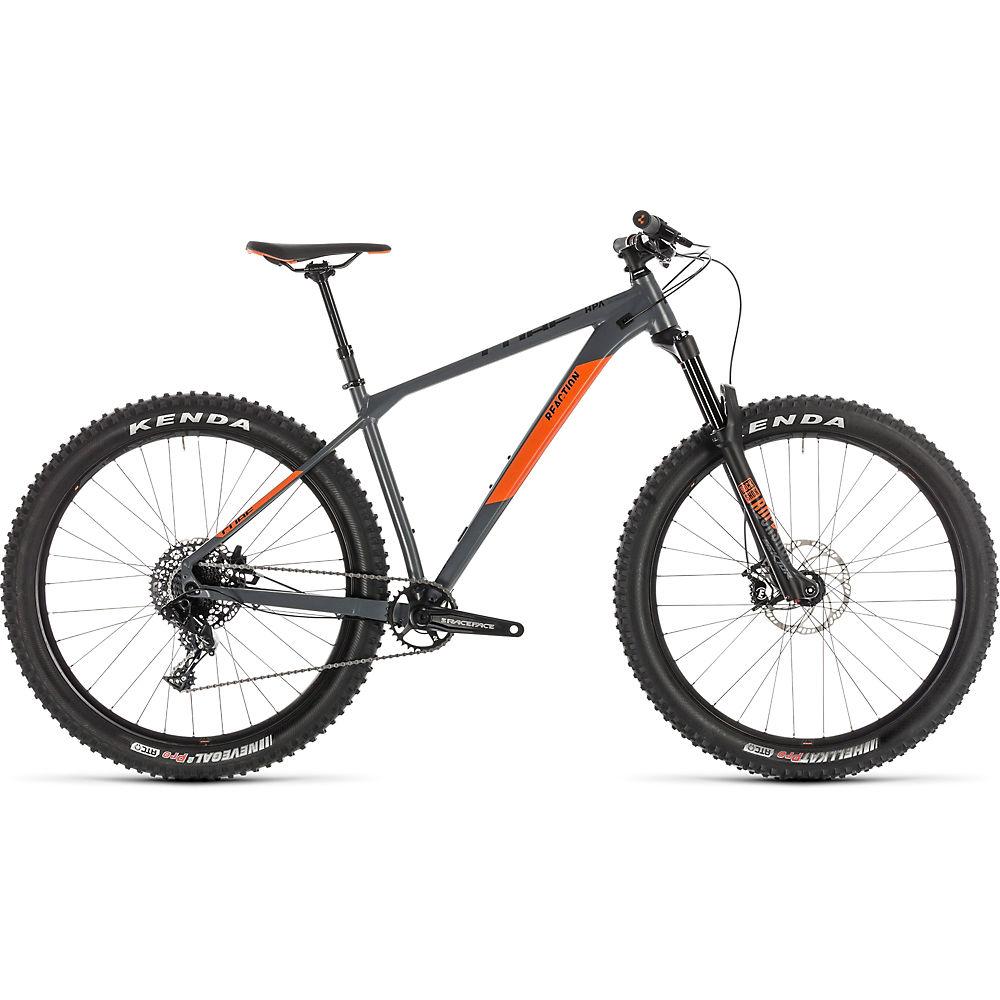 """Bicicleta de montaña Cube Reaction TM Pro 27,5 2019 - Gris - Naranja - 46cm (18""""), Gris - Naranja"""