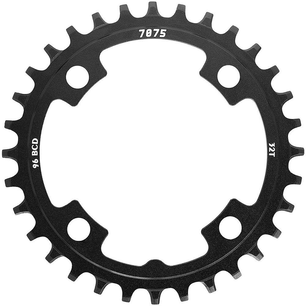 SunRace MX00 Steel Chainring - Black - 4-Bolt, Black