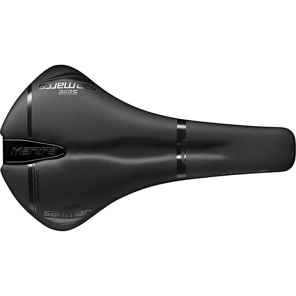 Selle San Marco Mantra Full-fit Dynamic Saddle - Black-black - Narrow - 136mm Wide  Black-black