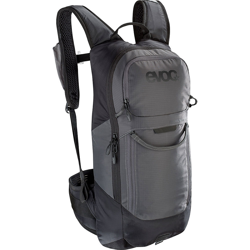 Image of Evoc FR Lite Race Protector Backpack 10L - Carbon Grey-Black, Carbon Grey-Black