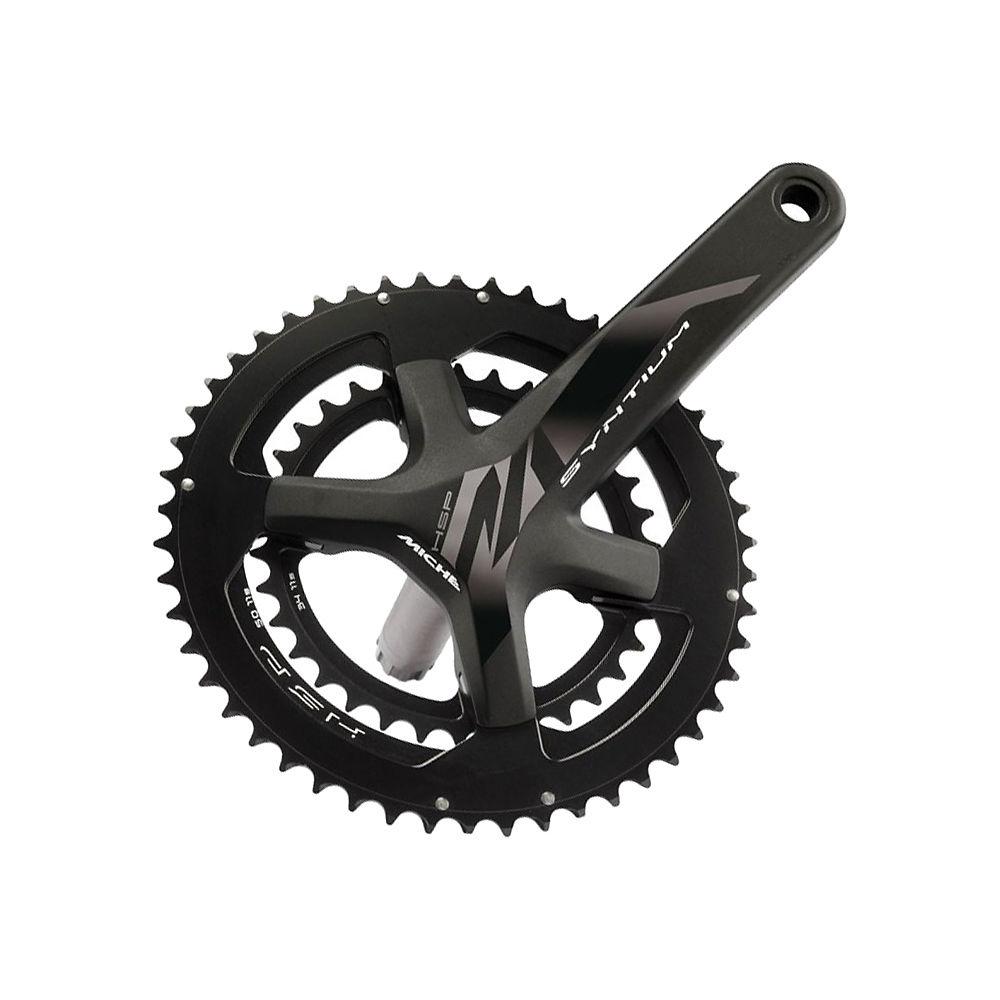 Miche Syntium Hsp 11sp Road Double Chainset - Black - 50.34t  Black