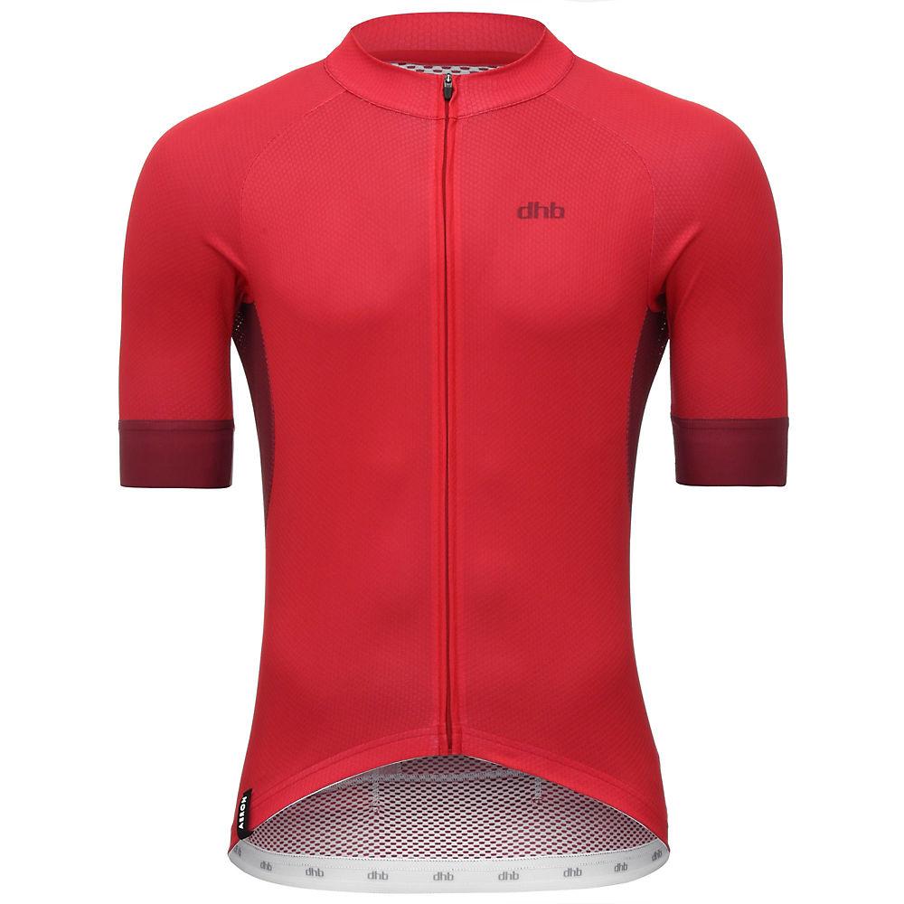 Dhb Aeron Short Sleeve  Jersey - Red - M  Red
