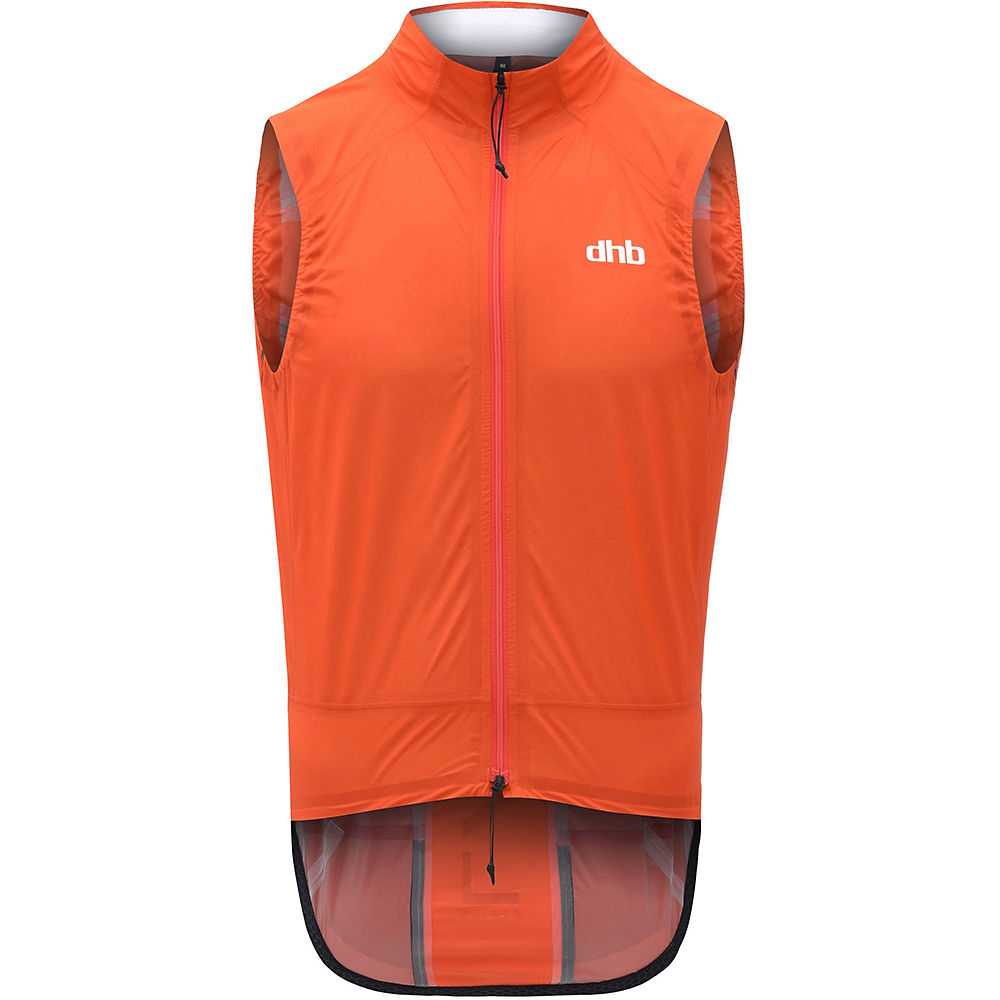 dhb Aeron Lab Superlight Waterproof Gilet – Orange – M, Orange