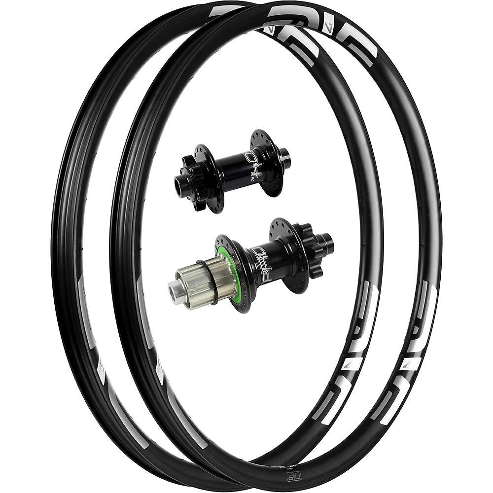 Image of ENVE M730 Carbon MTB Rims with Pro 4 Hubs - Noir - Blanc - 12x148mm / 15x110mm Shimano, Noir - Blanc