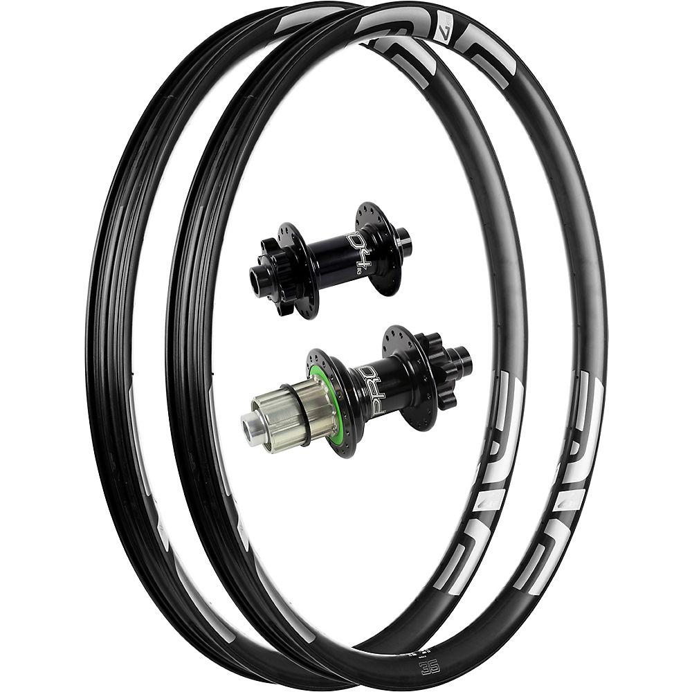 Image of ENVE M735 Carbon MTB Rims with Pro 4 Hubs - Noir - Blanc - 12x148mm / 15x110mm Shimano, Noir - Blanc