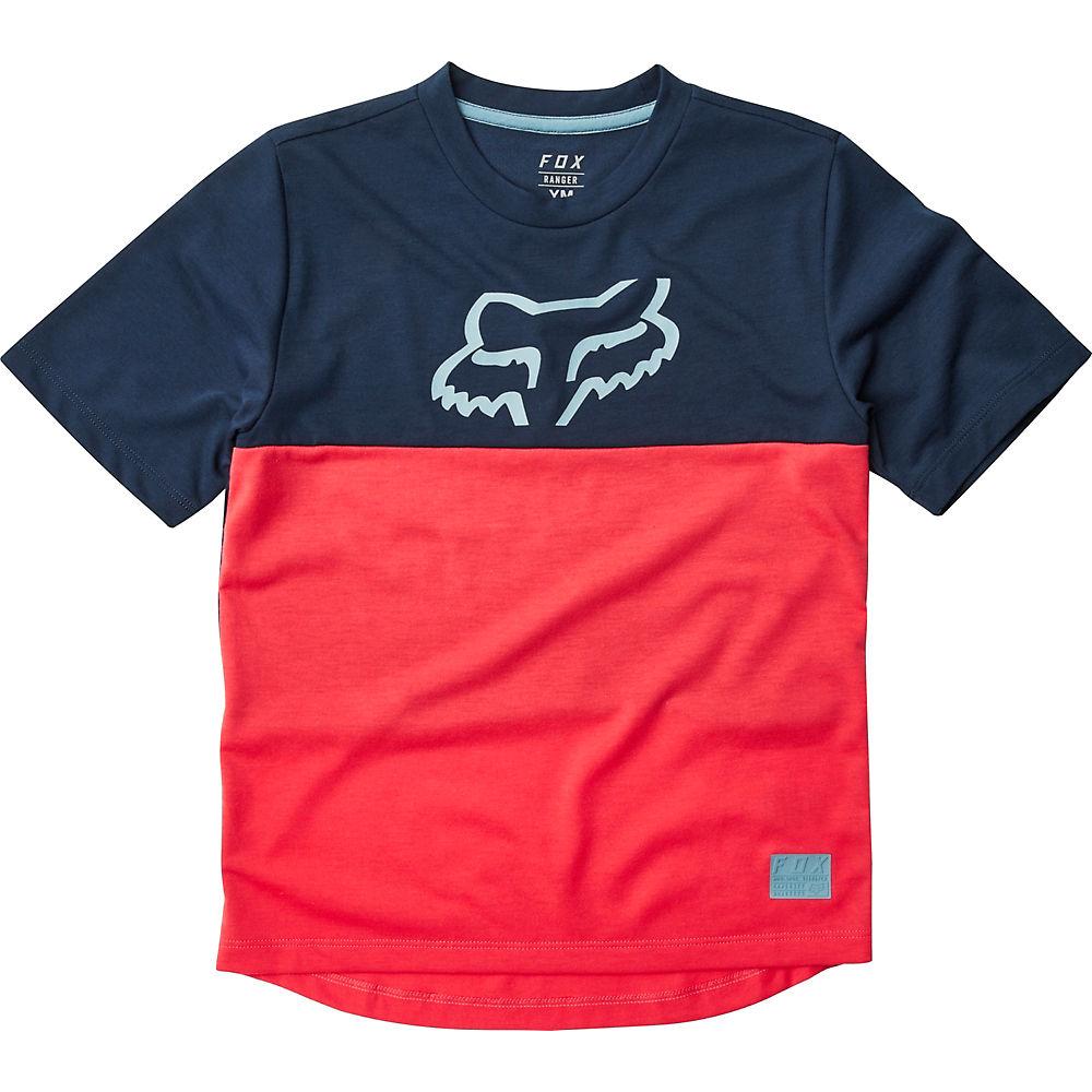 Fox Racing Youth Ranger DR SS Jersey - Rojo brillante - M, Rojo brillante