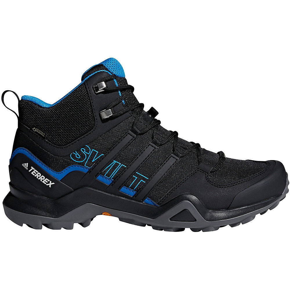 adidas Terrex Swift R2 Mid GTX Shoes  - Core Black-Bright Blue - UK 10.5, Core Black-Bright Blue