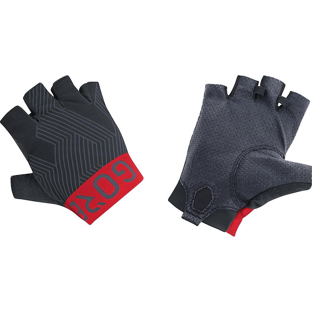 Gore Wear C7 Short Pro Gloves - Black-red  Black-red