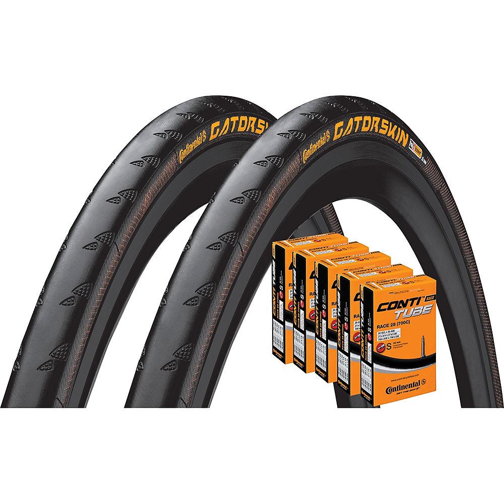 Continental Gatorskin 32c Tyres + 5 Tubes - Black - 700c  Black
