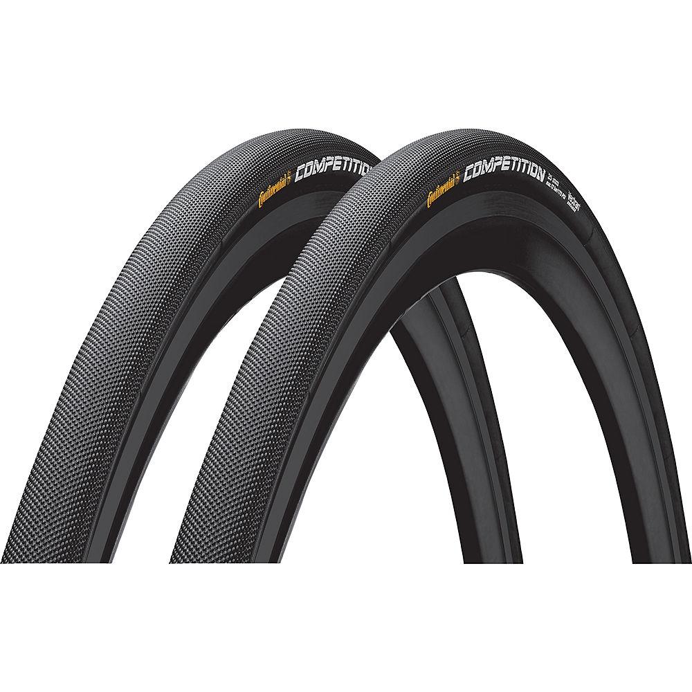 Continental Competition Tubular Tyres 25c - Pair - Negro - 700c, Negro