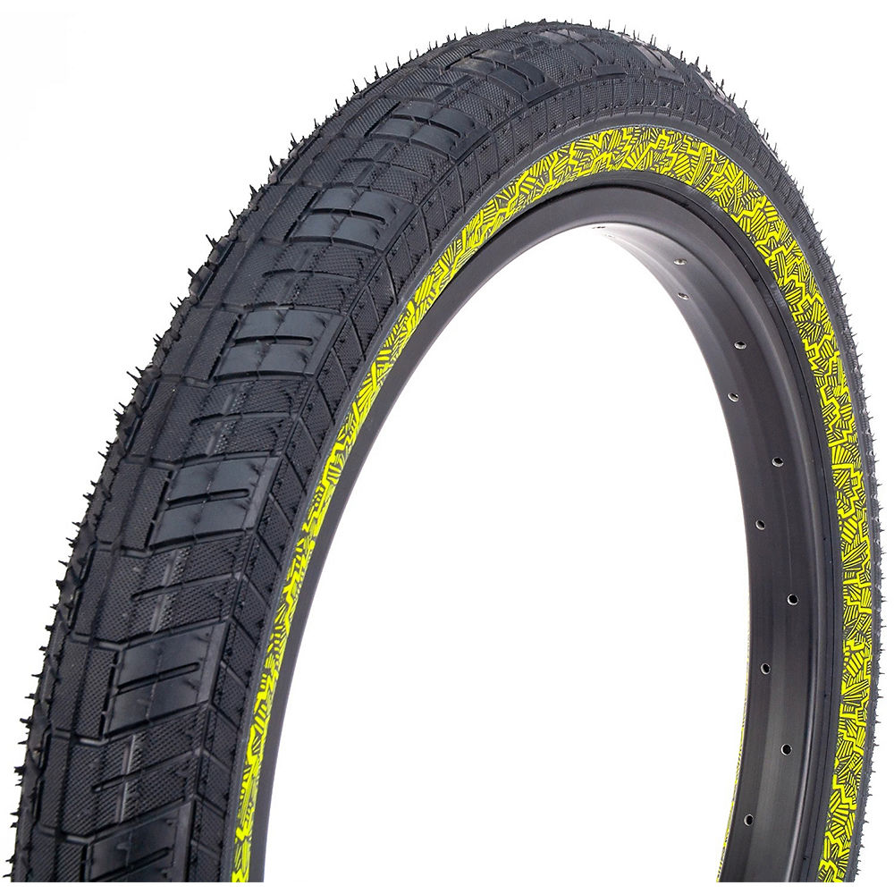 Image of Fiction Night Moves Atlas LP BMX Tyre - 3M Reflective Yellow - 55-65 psi, 3M Reflective Yellow