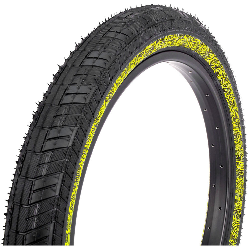 Image of Fiction Night Moves Atlas HP BMX Tyre - 3M Reflective Yellow - 80-110 psi, 3M Reflective Yellow
