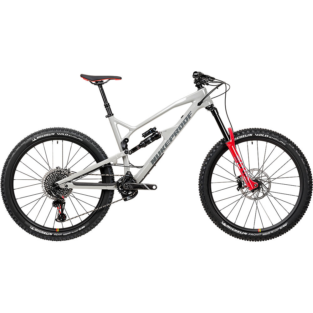 Bicicleta de carbono Nukeproof Mega 275 RS (XO1 Eagle) 2020 - Concrete Grey, Concrete Grey