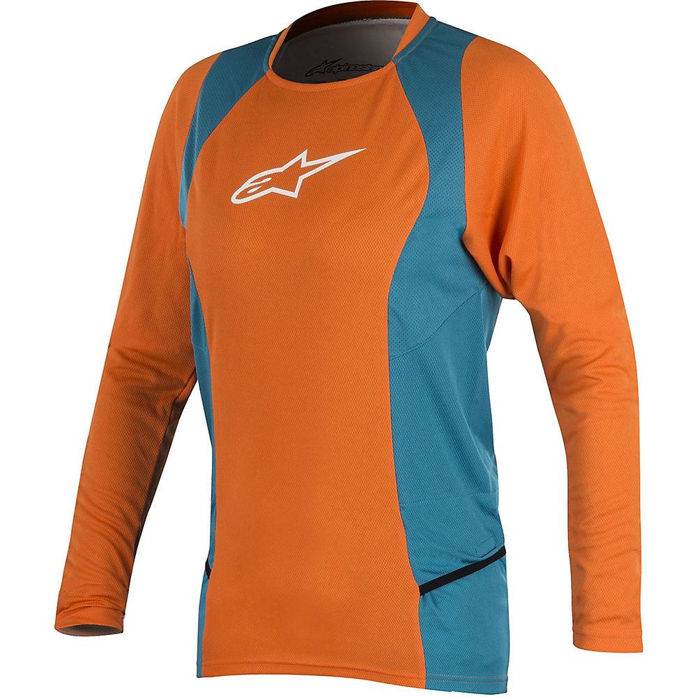 Alpinestars Stella Drop 2 Long Sleeve Jersey 2018 - Bright Orange Ocean - Xl  Bright Orange Ocean