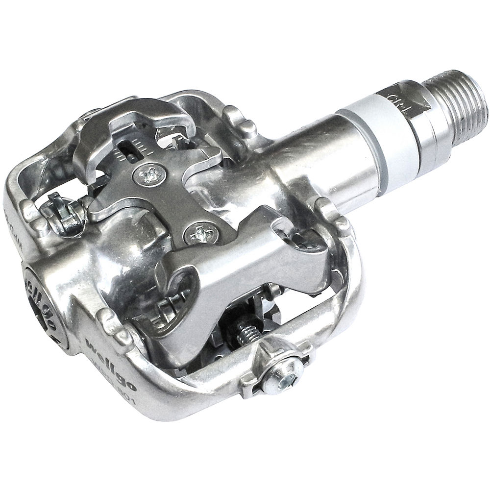 Wellgo WPD801-MTB Clipless Alloy Pedals - Silver, Silver