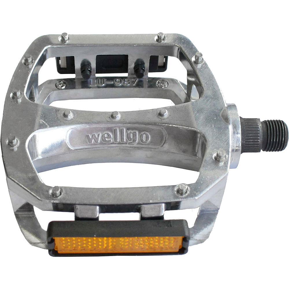 Wellgo LU987B Downhill Cro-mo Axle Pedals - Silver, Silver