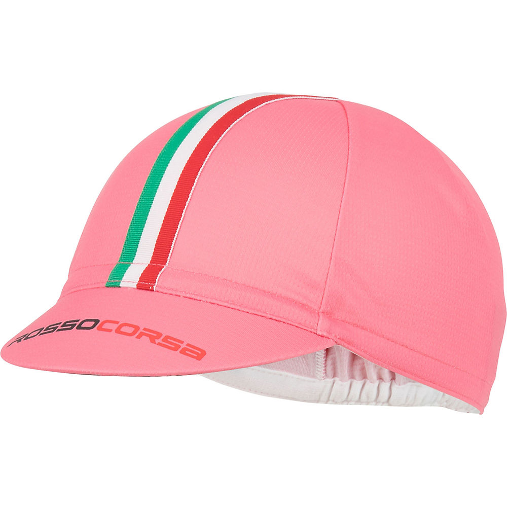 Castelli Rosso Corsa Cycling Cap - Rosa - One Size, Rosa
