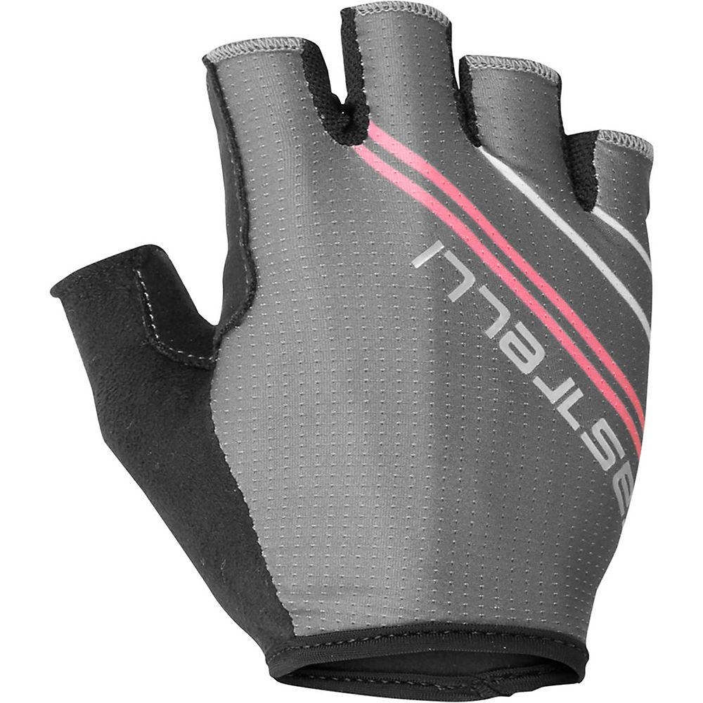 Castelli Women's Dolcissima 2 Glove - Dark Gray/Giro Pink, Dark Gray/Giro Pink