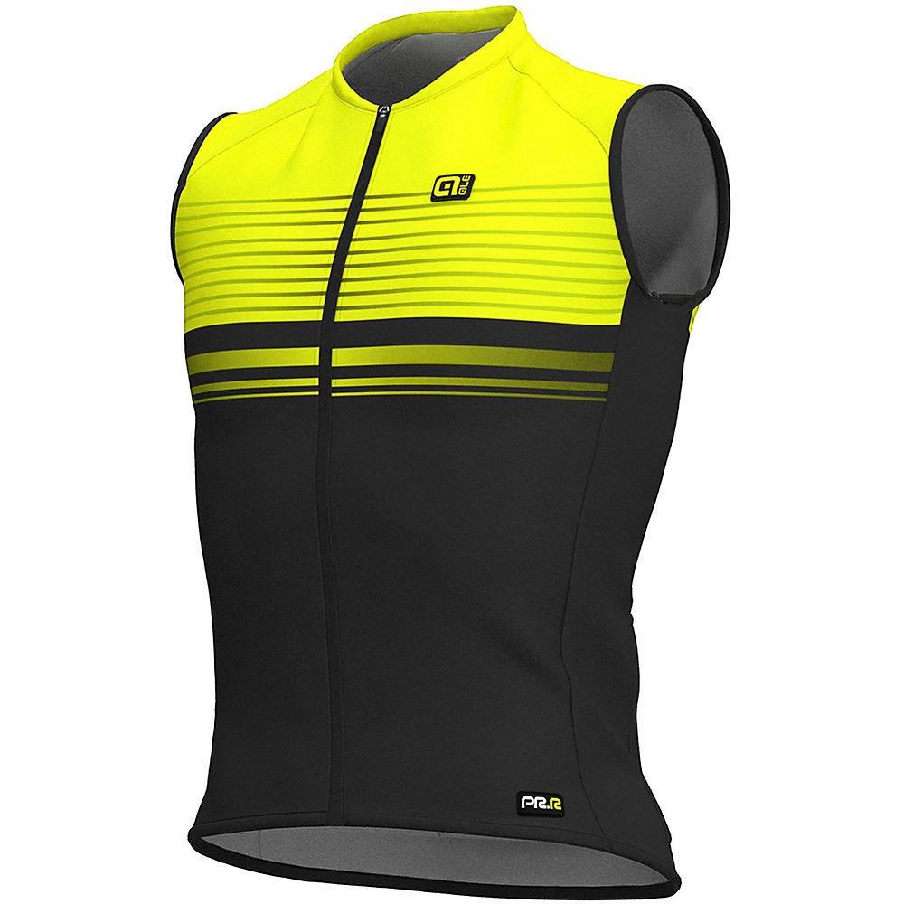 Alé Graphics PRR SM Slide Sleeveless Jersey  - Black-Fluro Yellow - XS, Black-Fluro Yellow