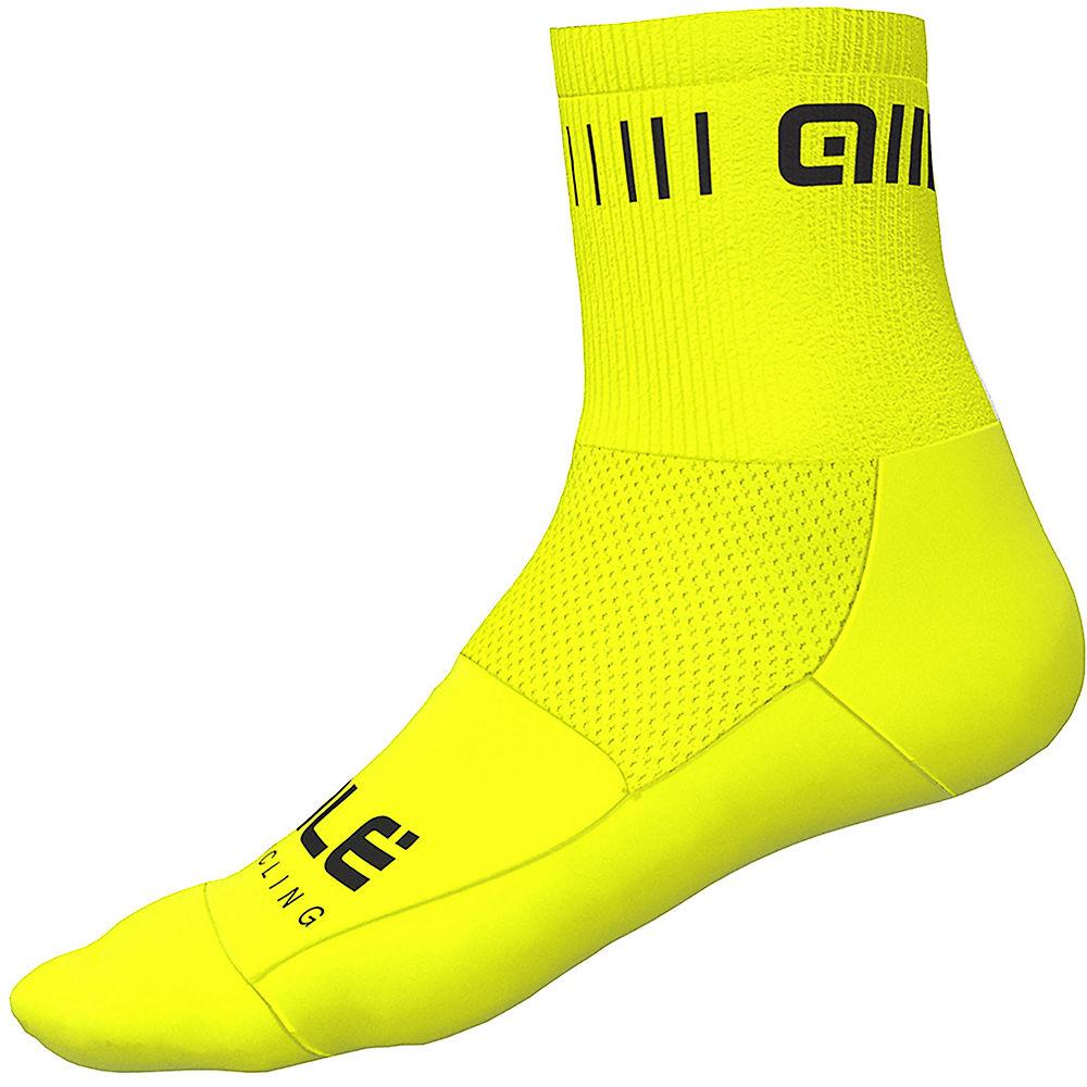 Ale Strada Qskin Socks - Fluro Yellow-black  Fluro Yellow-black