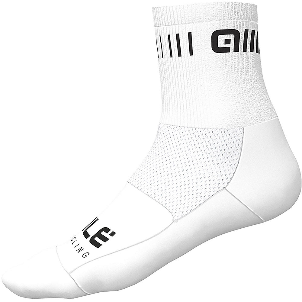 Ale Strada Qskin Socks - White-black - M  White-black