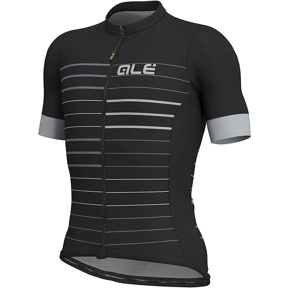 Alé Solid MC Ergo Jersey – Black-Grey – XXL, Black-Grey